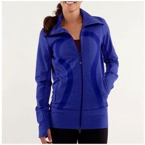 Rare Lululemon In Stride Jacket In Blue Sz 10